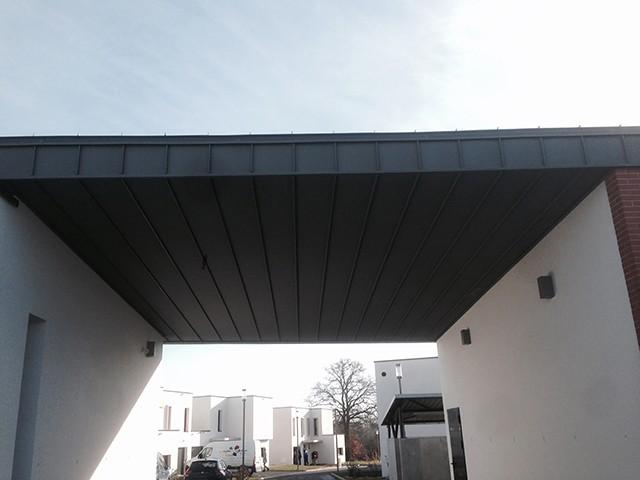 Peltier Charpentier Mayenne 53 Sous Face Et Bandeau Couverture Zinc